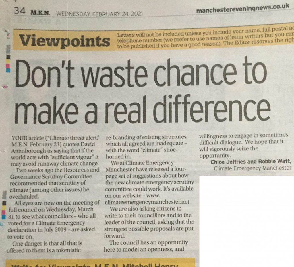 Letter- Don't waste chance to make real difference
