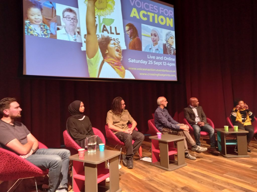 Panel Discussion at #VoicesforAction in Oldham Library
